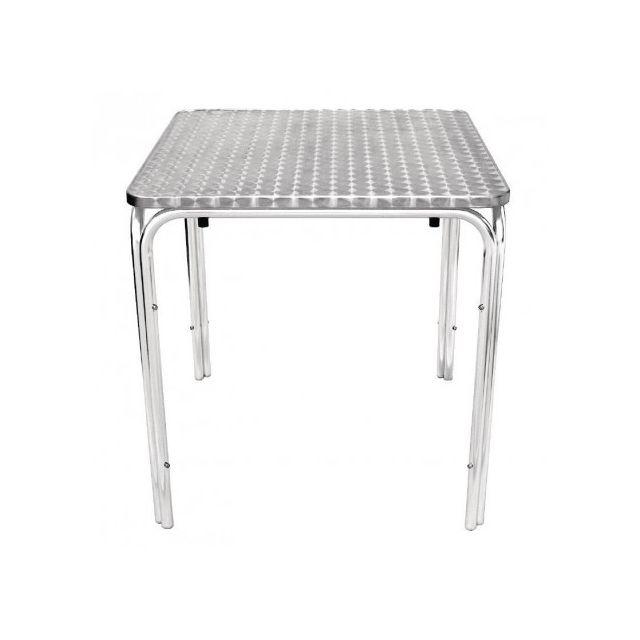 Materiel Chr Pro Table carrée empilable Bolero 700 mm - Inox