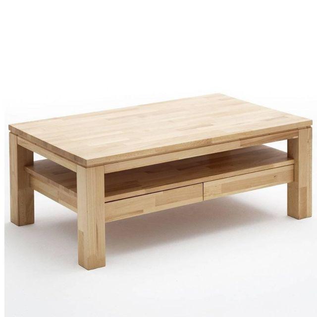 Inside 75 Table basse Gordes 115 x 70 cm en hêtre massif ciré et huilé