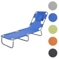 1dddf4811390b1 Mendler - Chaise longue de jardin Hwc-b11, transat bain de soleil, fonction