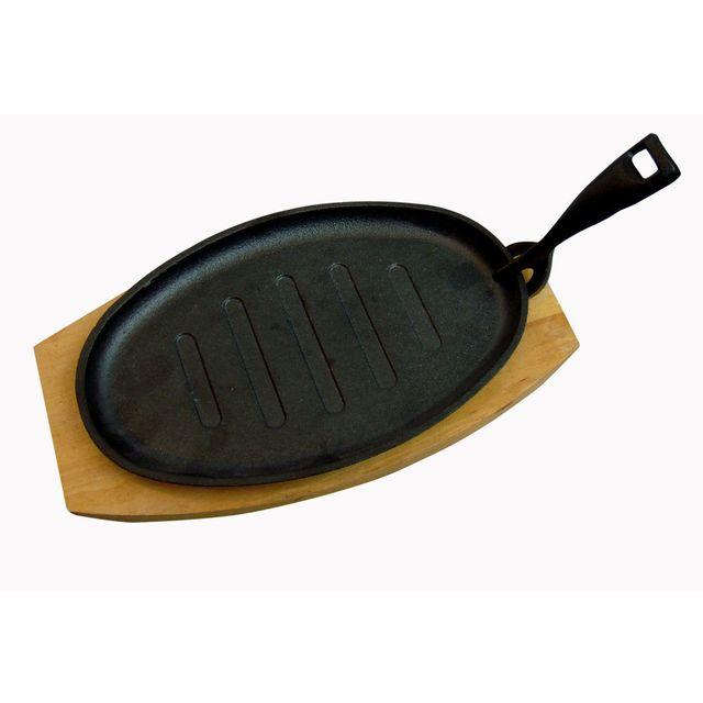 Baumalu Grill ovale en fonte noire 26.7x16.5cm tous feux dont induction