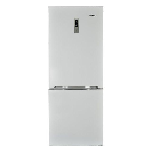 Sharp réfrigérateur combiné 70cm 455l a++ nofrost blanc - sj-b2455e0w