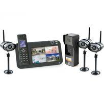 Scs Sentinel - Kit Interphone vidéo Dect + vidéosurveillance - 1 platine + 3 caméras - 1 platine + 3 caméras