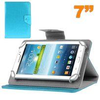 Yonis - Housse universelle tablette tactile 7 pouces support ajustable Bleu ciel
