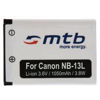 mtb more energy® - Batterie Nb-13L Nb13LH pour Canon PowerShot G7 X 3.6V - 1050mAh - avec Infochip