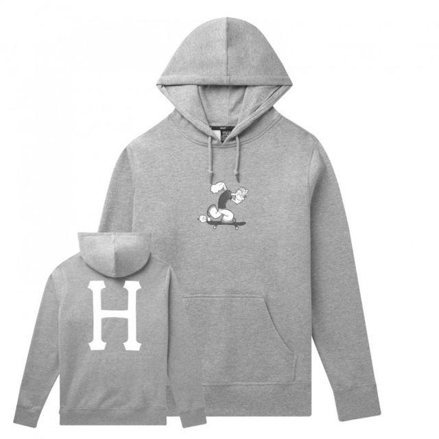 Huf Sweat popeye skates hood, Grey heather