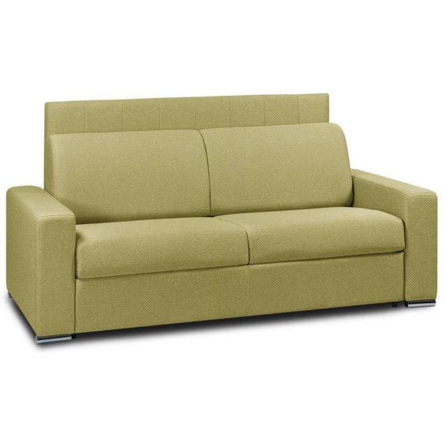 INSIDE 75 Canapé lit RAPIDO LATTES 120cm matelas 16cm tête de lit intégrée vert lime