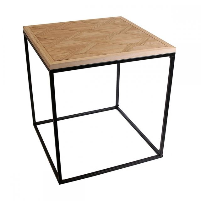 Ego Design Table basse Syla bois et metal noir