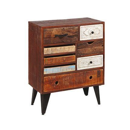 commode 8 tiroirs bois naturel sebpeche31. Black Bedroom Furniture Sets. Home Design Ideas