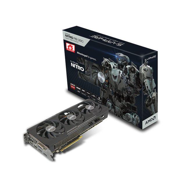 SAPPHIRE TECHNOLOGY - Carte graphique - SAPPHIRE NITRO R9 390 8G PCI-E LITE - Reconditionné