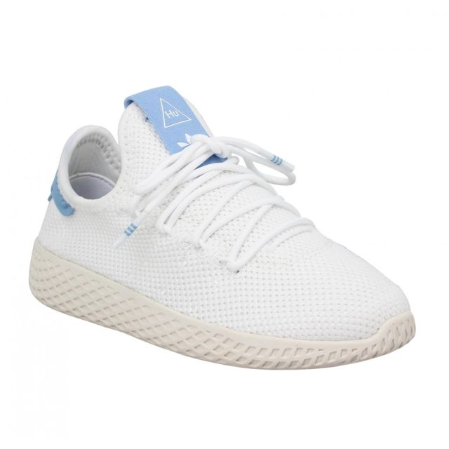 43047cc101df Adidas - X Pharrell Williams Pw Tennis mesh Enfant-32-Blanc Bleu - pas cher  Achat   Vente Baskets enfant - RueDuCommerce