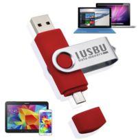 """I Usb U - Cle Usb flip double 32 Go """"Classe A"""" pour smartphone, tablette Android, Pc et Mac, Usb - micro Usb """"OTG"""