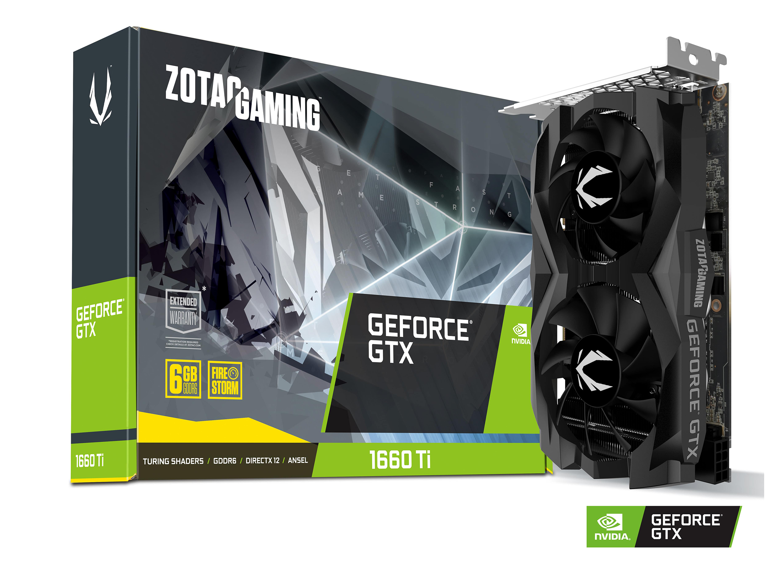 Carte graphique GeForce GTX 1660 Ti Twin Fan 6 Go Zotac