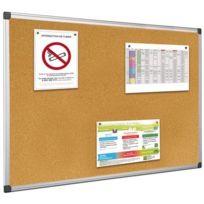 Bi-office - tableau liege aluminium c-rd 90x180