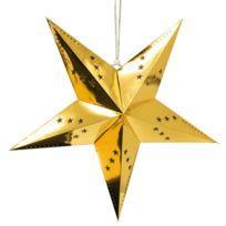 Skylantern - Étoile à suspendre Dorée x1