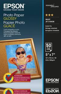 epson papier photo glossy 13x18cm 50 feuilles pas cher achat vente papier photo. Black Bedroom Furniture Sets. Home Design Ideas