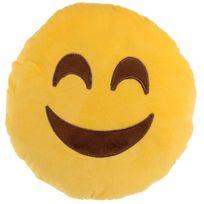 Sans Marque - Peluche Coussin moelleux Emoji Sourire content