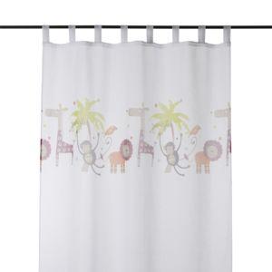 alin a jungle voilage 140x240cm pattes motifs jungle. Black Bedroom Furniture Sets. Home Design Ideas