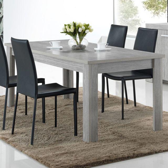 Sofamobili Table 190 cm couleur chêne gris Evan