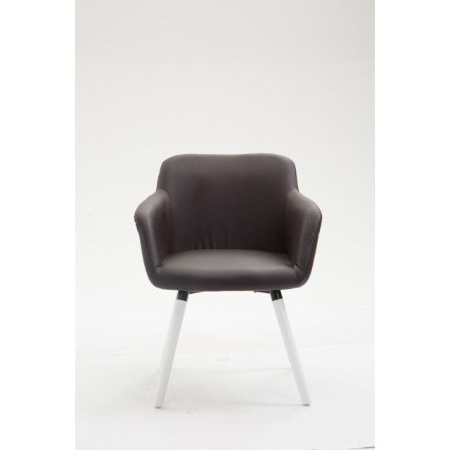 Magnifique Chaise de conférence Siège visiteur Yaren Cuir