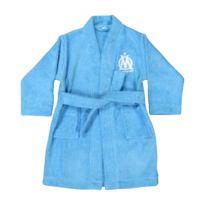Olympique Marseillais - peignoir kimono Om Bleu 100% coton - Adulte