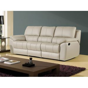 la maison du canap canap cuir 3 places giorgina cuir. Black Bedroom Furniture Sets. Home Design Ideas