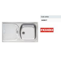 FRANKE - Evier à encastrer 1 cuve 1 égouttoir Inox lisse Eurostar