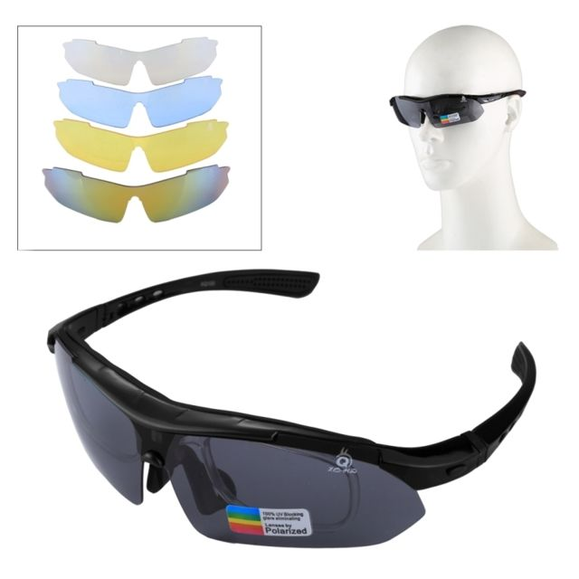 Wewoo - Pour Tir   Cyclisme   noir Ski   Golf Lunettes de soleil Uv400 Sport b78b7ae3f0e5