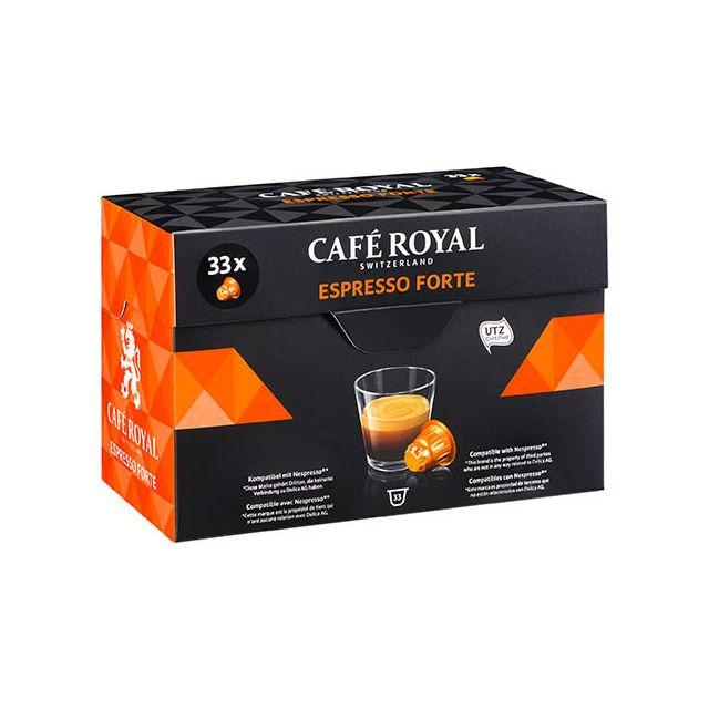 CafÉ Royal Capsules de café Espresso Forte - Boîte de 33