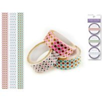 Party Craft - 1,5 X 2,5 M 3 PiÈCES Style C Washi Tape Multicolore