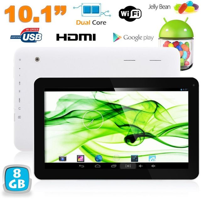 Yonis Tablette tactile 10 pouces Android JellyBean 4.2 Dual Core 1.3GHz 8Go