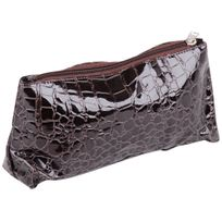 Promobo - Pochette Maquillage Trousse Cosmetique Imprime Sexy Croco Wengé ad32eae4aead