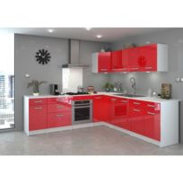 Cuisine Rouge Brillant meuble cuisine rouge - achat meuble cuisine rouge pas cher - rue du