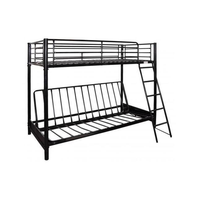 declikdeco lit mezzanine 90 avec clic clac noir l syt me mezzi pas cher achat vente. Black Bedroom Furniture Sets. Home Design Ideas