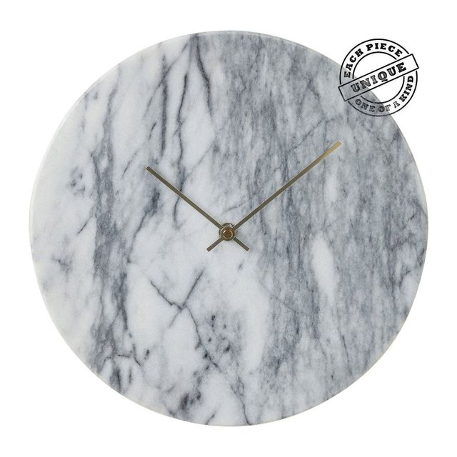 Karedesign - Horloge murale Desire marbre blanc Kare Design