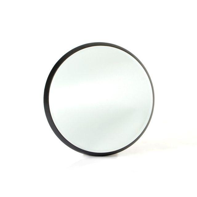 Amadeus Miroir rond noir avec contour effet profondeur Gallery - 44cm
