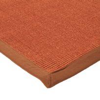 mon beau tapis tapis sisal 60x90 orange - Tapis Orange