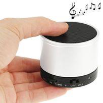 Yonis - Haut parleur enceinte Bluetooth universelle smartphone kit main libre Blanc