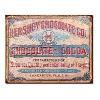 Universel - Plaque chocolat hershey vieillit style vieille affiche tole