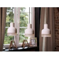 Beliani - Lampe - Lampe de plafond - Lampes - Beton - Gris - Luni