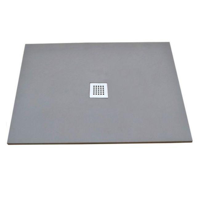 evidence receveur de douche en r sine 90x90 gris clair olan pas cher achat vente receveur. Black Bedroom Furniture Sets. Home Design Ideas
