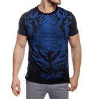 Just Cavalli - T-shirt homme manches courtes noir imprimé tigre