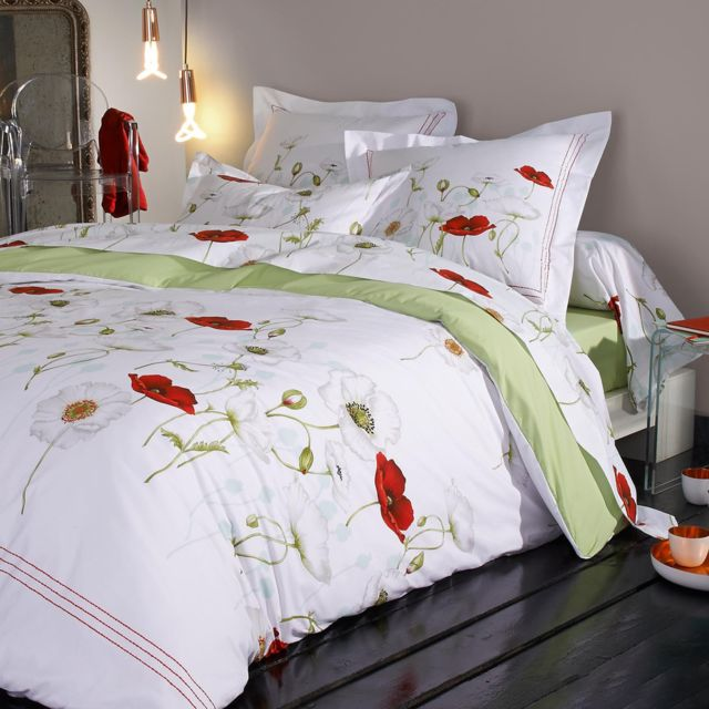 linnea parure de lit 260x240 cm percale pur coton seduction multicolore nc pas cher achat. Black Bedroom Furniture Sets. Home Design Ideas