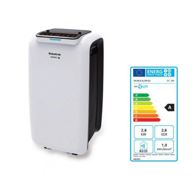 alpatec climatiseur mobile puissance frigorifique 2640w. Black Bedroom Furniture Sets. Home Design Ideas