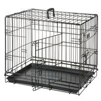 Flamingo - Cage pour chien Noir 2 portes L 1,20 m x l 76cm x H 82 cm