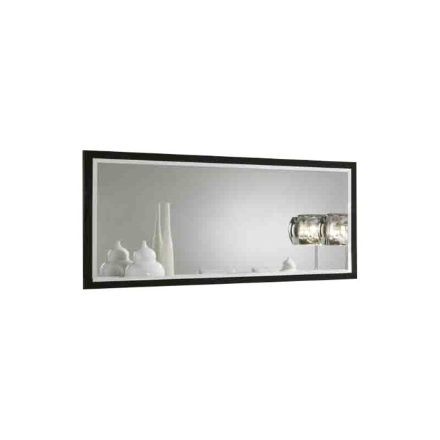 Decodesign Miroir Roma LaquÉ Noir-Blanc 180 cm