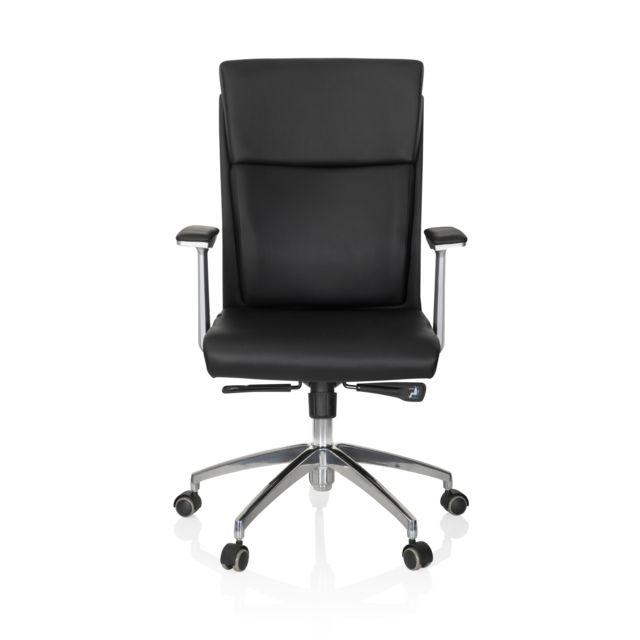 Hjh Office Siège de bureau / Fauteuil de direction Monza 10, cuir noir