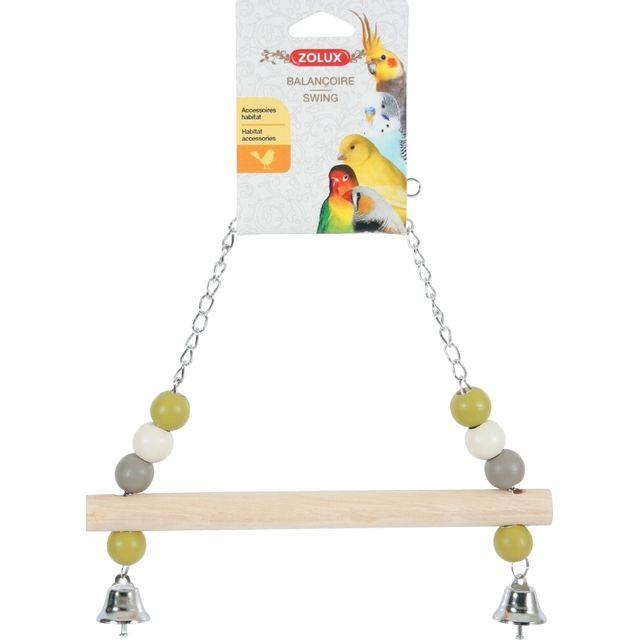 zolux balancoire bois chaine en metal pas cher achat vente accessoires de cage rueducommerce. Black Bedroom Furniture Sets. Home Design Ideas