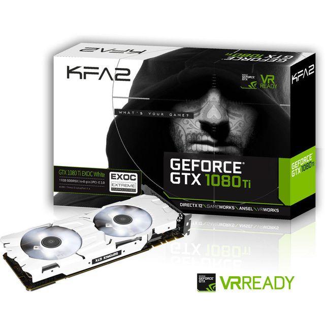 KFA2 - GeForce GTX 1080 Ti EXOC BLANC 11GB GDDR5X 352-bit DP1.4/HDMI 2.0b