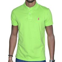 Polo Ralph Lauren - Ralph Lauren - Polo Manches Courtes - Small Pony Custom Fit - Kiwi Vert Rose