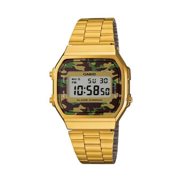 CASIO Montre digital Doré avec camouflage marron et vert  5FKMn